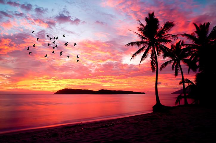 Langkawa, Malaysia, Beach Sunset