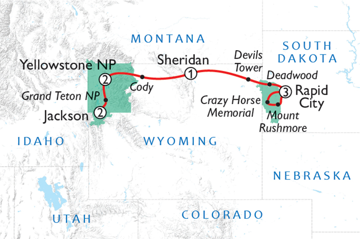 National Parks Wonders Map