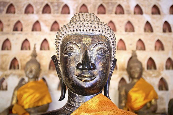 Buddha in Wat Si Saket, Vientiane