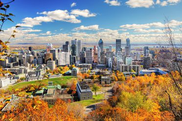 Mountain view of Montreal City, Canada
