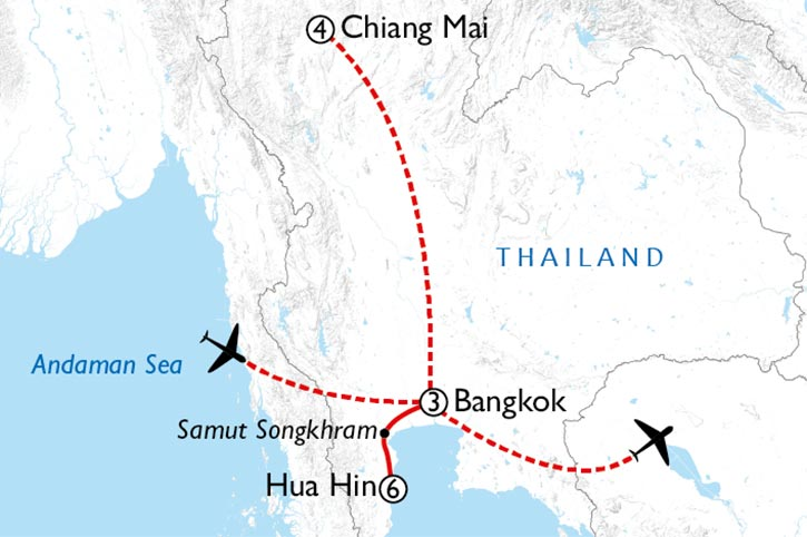 Active Thailand Map