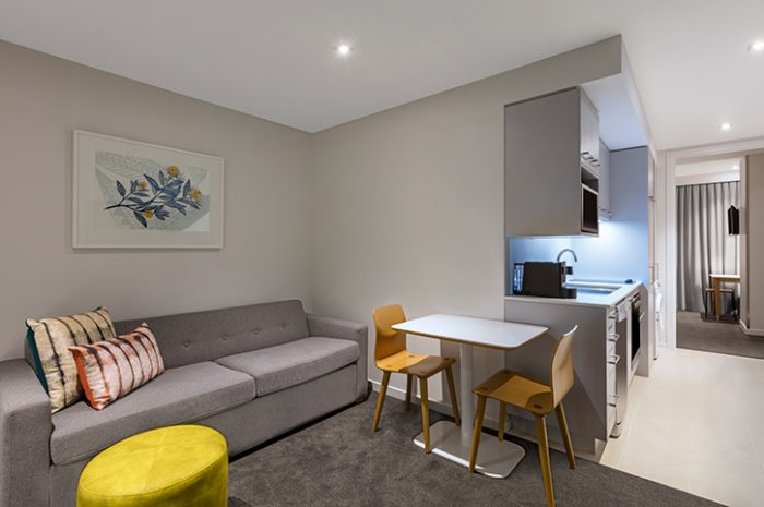 Adina Britomart One Bedroom Apartment Lounge Room