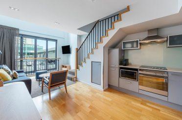 Adina Britomart Two Bedroom Apartment Lounge Room Kitchen