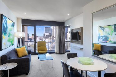 Adina Melbourne One Bed Apartment Lounge