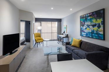 Adina Melbourne Two Bed Apartment Lounge
