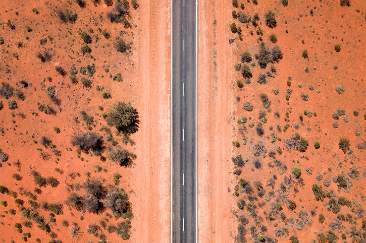 Outback road, South Australia
