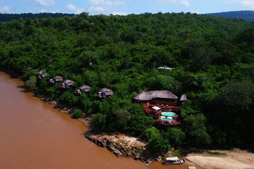 Aerial view of Serena Mivumo River Lodge