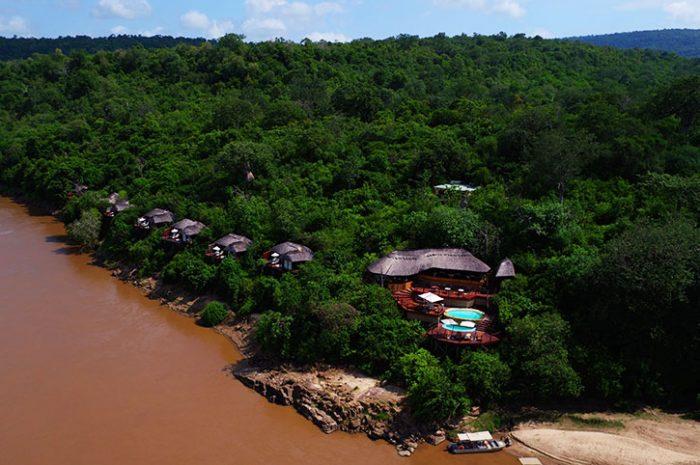 Aerial view of Serena Mivumo River Lodge
