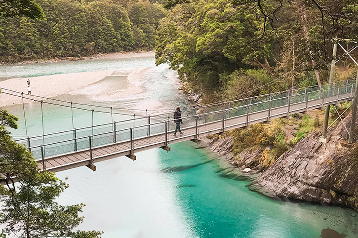 Alice at Blue Pools Walk New Zealand