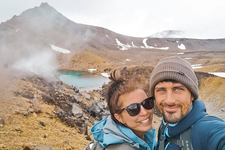 Alice and Mark, Tongariro National Park