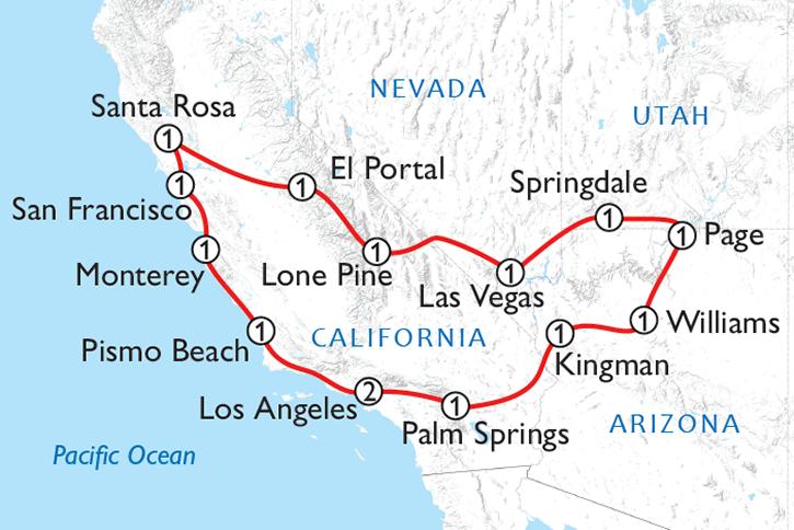 America's Wild West Map