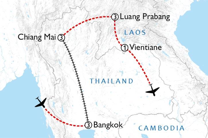 Asia's Hidden Treasures Map