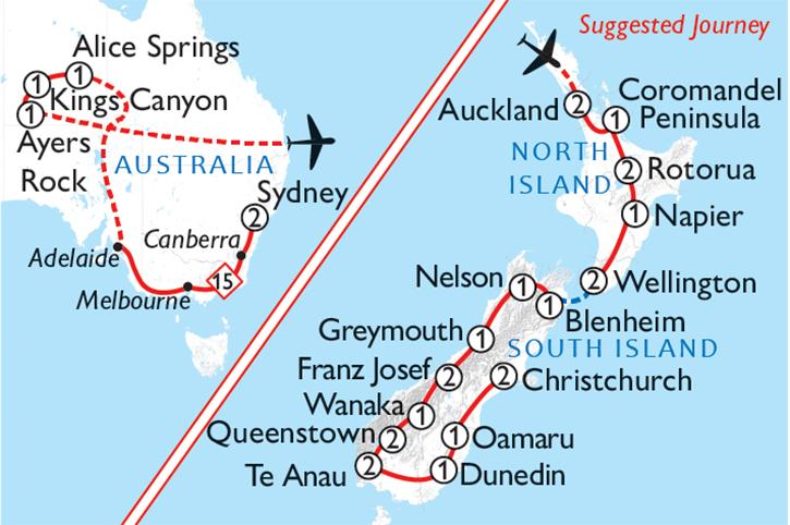 Aus & NZ Journey Map