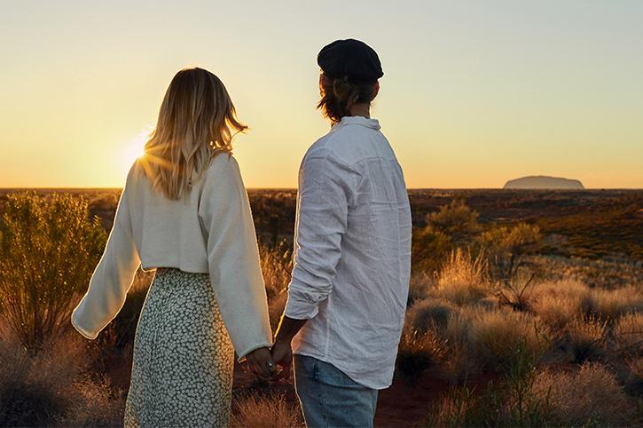 Ayers Rock Couple