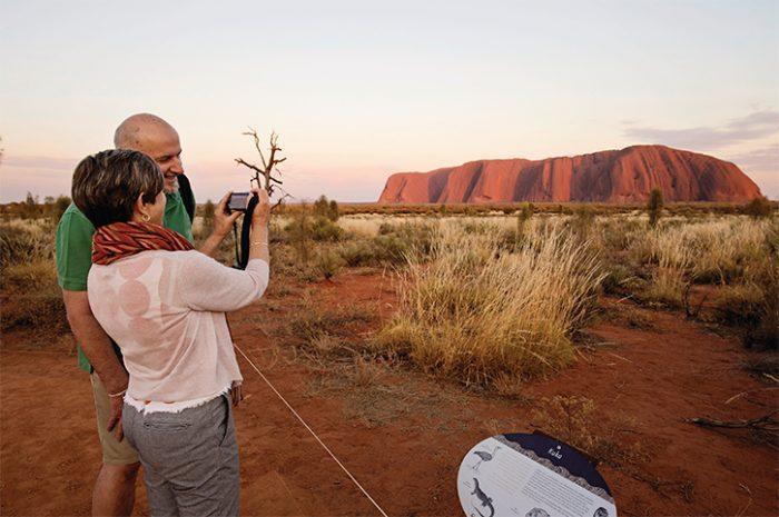 Couple at Ayers Rock/Uluru