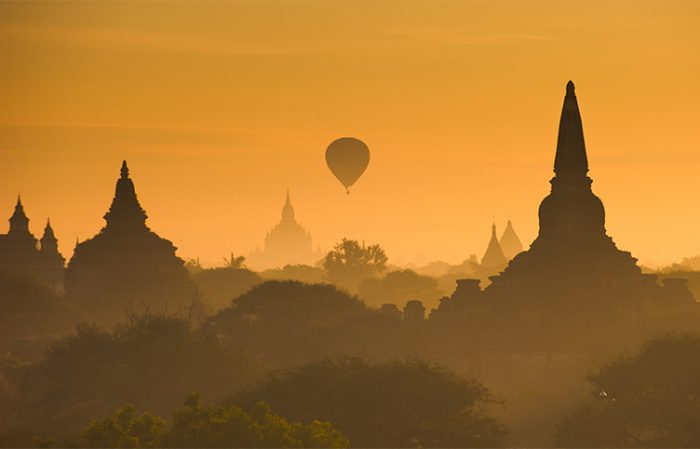 Hot Air Balloon, Bagan, Burma