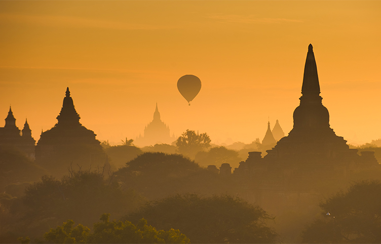 Hot Air Balloon, Bagan, Burma