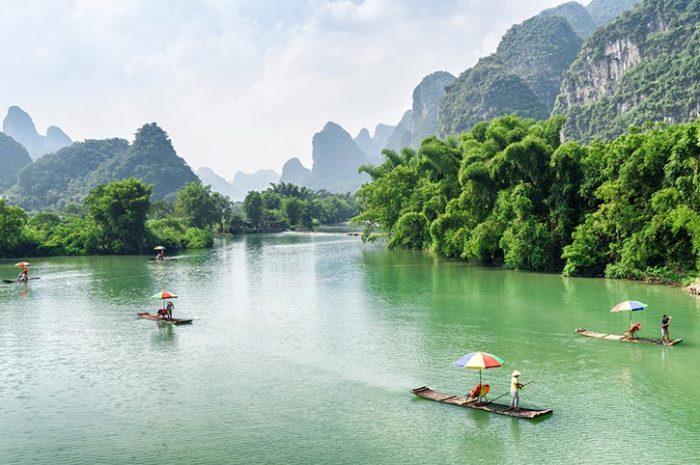 Bamboo Rafting Yulong River Yangshuo
