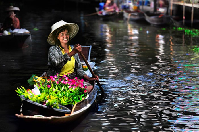 Floating Markets near Bangkok