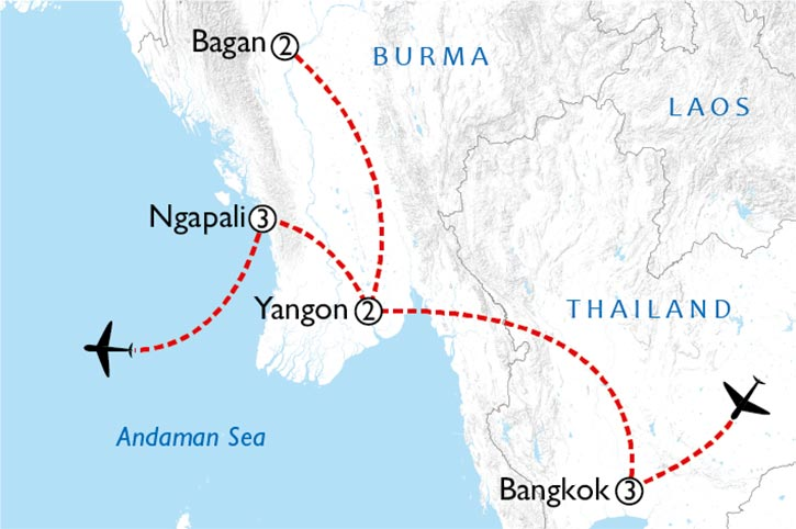 Bangkok And Burma Map