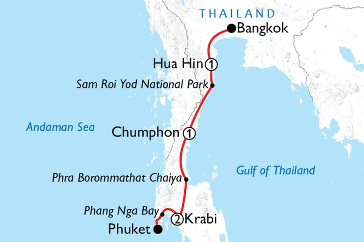 Bangkok To Phuket Discovery Map