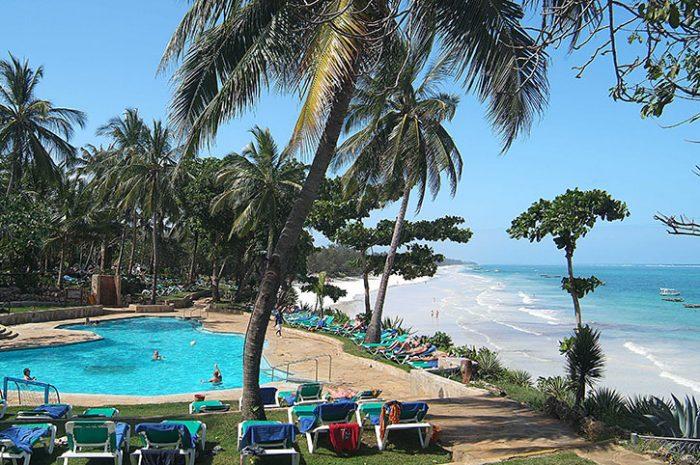 Baobab Beach Resort pool and beach