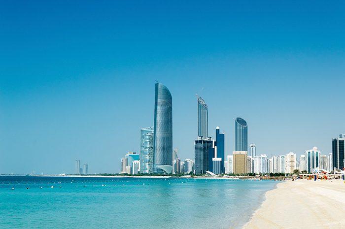 Beach and City Abu Dhabi