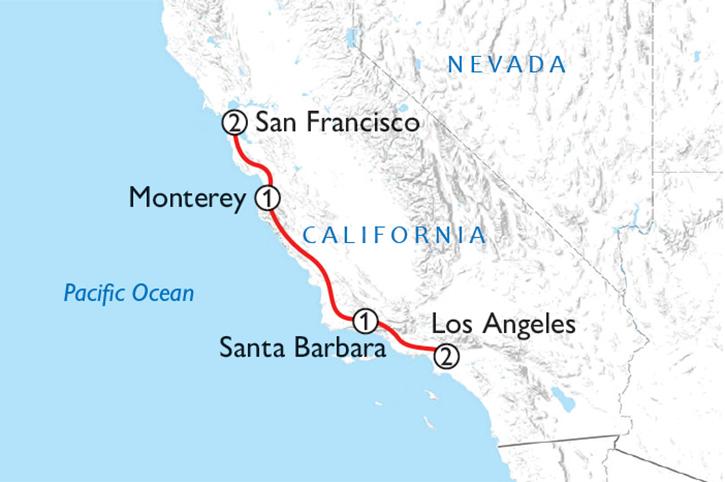 Best of California's Coast Map
