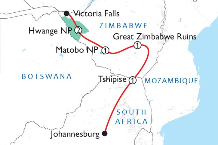 Best of Zimbabwe Map