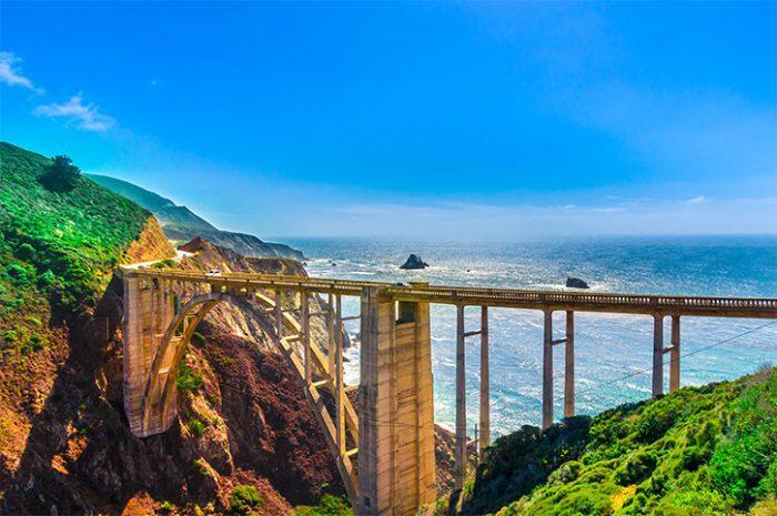Bixby Creek Bridge on Pacific Coast Highway, California