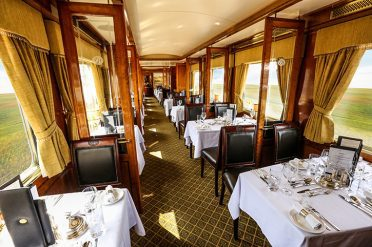 Blue Car Dining Room, Blue Train, South Africa