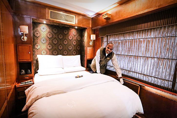 Blue Train Turn Down Service, South Africa