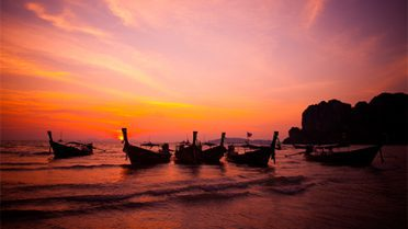 Boat-taxis-in-Krabi-Thailand
