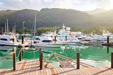 Boats In The Marina, Seychelles