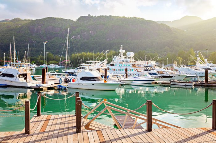 Boats In The Marina, Seychelles