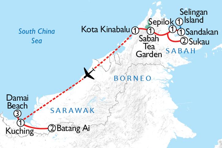 Borneo Adventure 2019 Map
