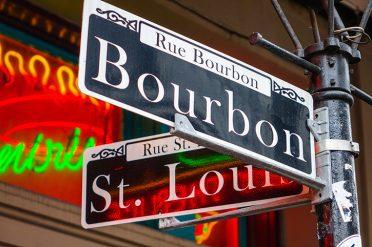 Bourbon Sign, New Orleans