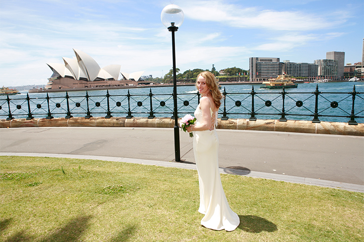 Bride at Sydney Opera House