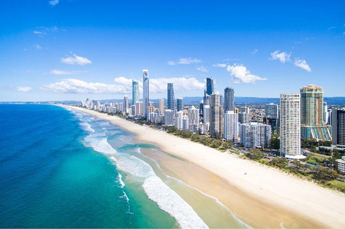 Brisbane beach, South Queensland, Australia