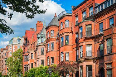 Brownstone Row Houses, Boston