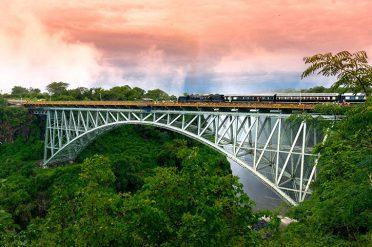 Bushtracks Steam Train Sunset Over Victoria Falls