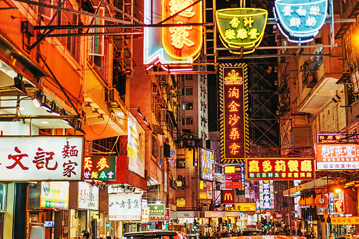 Busy-Street,-Hong-Kong