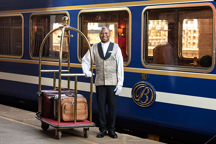 Boarding the Blue Train