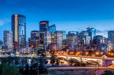 Calgary Skyline Night, Canada
