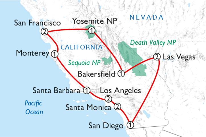 California Dreaming Map