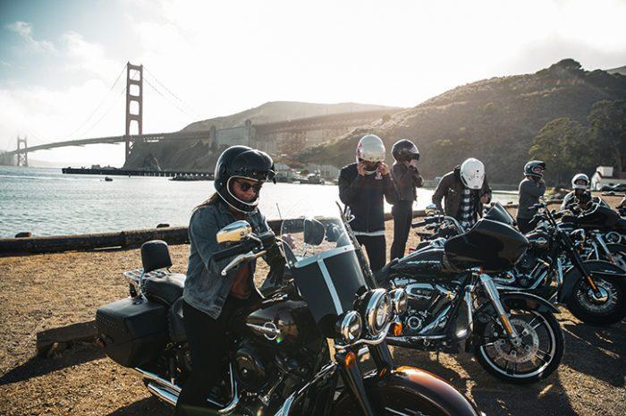 Motorcycle tour, San Francisco