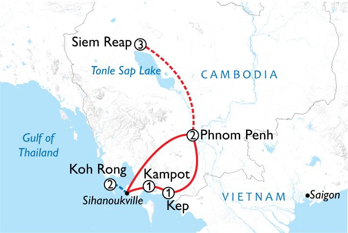 Cambodia Discovery Map