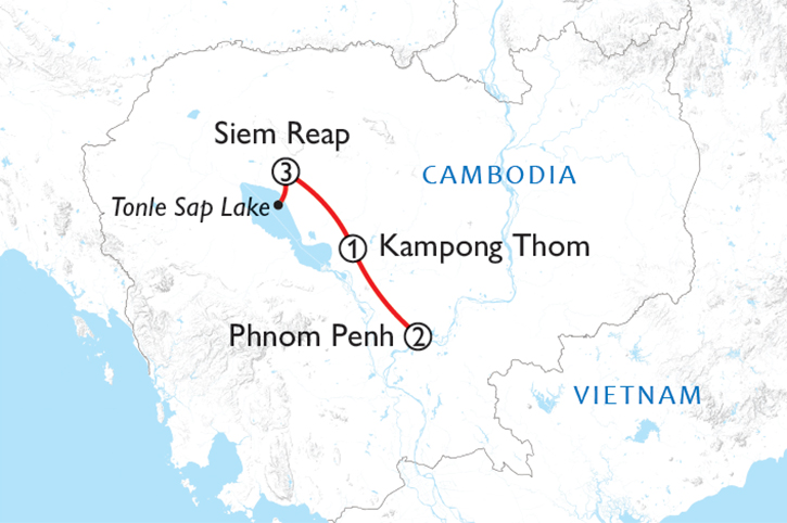 Cambodia Experience 2020 Map