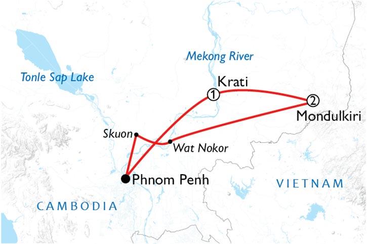 Cambodia's Wild East Map