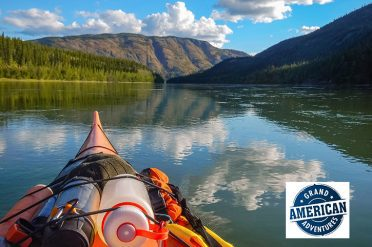 Canoeing Along The Yukon River, Canada